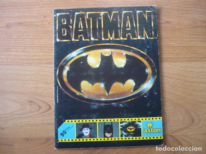 ALBUM BATMAN DE ASTON CON 153 CROMOS (COMPLETO A FALTA DE 9) - 1989 (Coleccionismo - Cromos y Álbumes - Álbumes Incompletos)