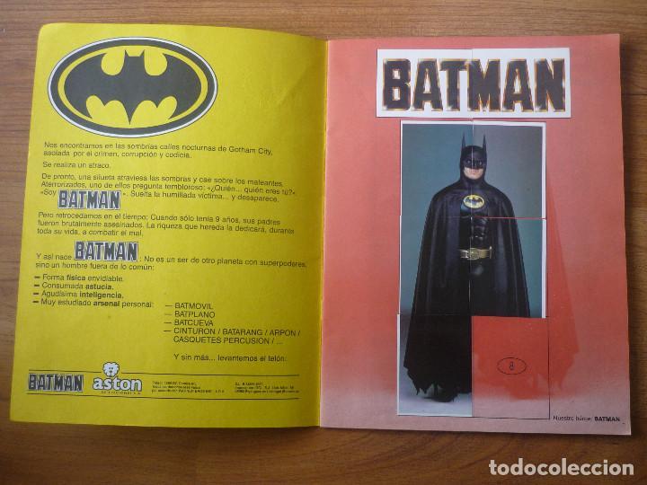Coleccionismo Álbumes: ALBUM BATMAN DE ASTON CON 153 CROMOS (COMPLETO A FALTA DE 9) - 1989 - Foto 2 - 116848815