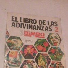 Coleccionismo Álbumes: ALBUM CROMOS EL LIBRO DE LAS ADIVINANZAS 2 (BIMBO D.L. 45703-1974) FALTAN 38 DE 266 CROMOS). Lote 117019511