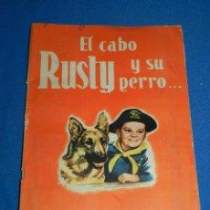 Coleccionismo Álbumes: ALBUM EL CABO RUSTY Y SU PERRO .. RIN TIN TIN , EDT FHER , INCOMPLETO FALTAN 49 CROMOS. Lote 117129911
