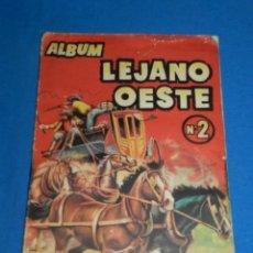 Coleccionismo Álbumes: ALBUM LEJANO OESTE NUM 2 , EDICIONES GENERALES, BARCELONA, INCOMPLETO FALTAN 81 CROMOS. Lote 117131395