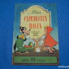 Coleccionismo Álbumes: ALBUM CAPERUCITA ROJA , CROMOS AS SERIE D , INCOMPLETO , FALTAN 15 CROMOS. Lote 117135363