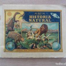 Coleccionismo Álbumes: HISTORIA NATURAL TOMO I EL CIELO Y LA EPOCA PREHISTORICA CHOCOLATES JUNCOSA ALBUM CROMOS INCOMPLETO . Lote 118237003