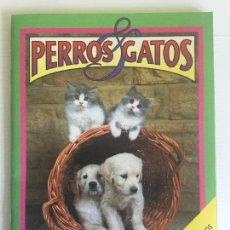 Coleccionismo Álbumes: ÁLBUM PERROS & GATOS CROMOSOL 1993 INCOMPLETO. Lote 118780303