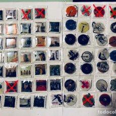 Coleccionismo Álbumes: 55X PEGATINAS GREFUSA MUSICMANIA CARÁTULAS CD-MÚSICA MANIA CARÁTULA PEGATINA CDS COLGANTES. Lote 119123263