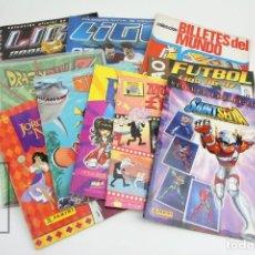 Coleccionismo Álbumes: LOTE DE 10 ALBUMES INCOMPLETOS - FÚTBOL, DRAGON BALL Z, NEMO, EL JOROBADO, CABALLEROS DEL ZODIACO.... Lote 119605039