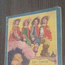 Coleccionismo Álbumes: ÁLBUM DE CROMOS INCOMPLETO - PELÍCULA LOS TRES MOSQUETEROS - CON 63 CROMOS - ED. BRUGUERA, 1948. Lote 119887047