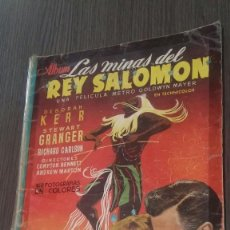 Coleccionismo Álbumes: LAS MINAS DEL REY SALOMON. EDICIONES CLIPER INCOMPLETO 56 CROMOS AÑO 1952.. Lote 119888475