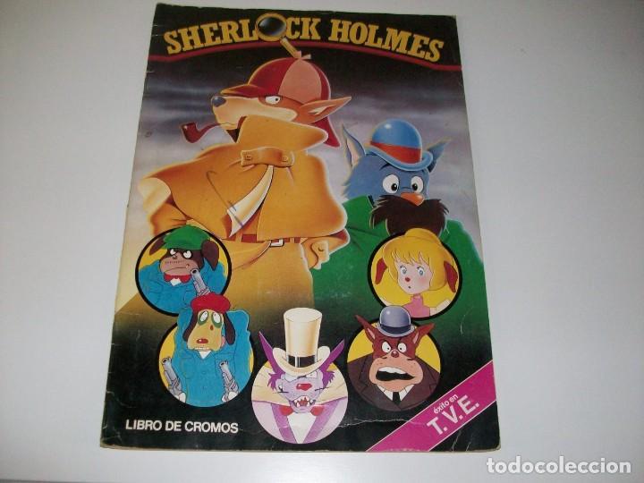 SHERLOCK HOLMES. ÁLBUM DE CROMOS. 69 CROMOS DE 200. EN MUY BUEN ESTADO. 1985. (Coleccionismo - Cromos y Álbumes - Álbumes Incompletos)