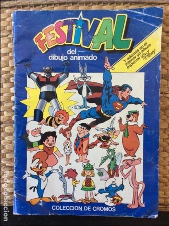 ÁLBUM CROMOS FESTIVAL DEL DIBUJO ANIMADO (Coleccionismo - Cromos y Álbumes - Álbumes Incompletos)