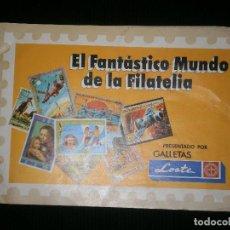 Coleccionismo Álbumes: EL ALBUM INCOMPLETO FANTASTICO MUNDO DE LA FILATELIA 22 SELLOS VER FOTOS ADICIONALES. Lote 120221751