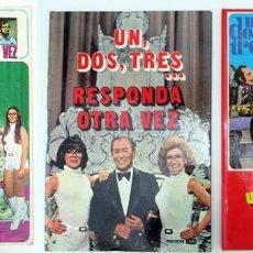 Coleccionismo Álbumes: ALBUM 1976 UN DOS TRES RESPONDA OTRA VEZ FHER Y 2 LIBROS. CHICHO KIKO AZAFATAS CALABAZA. Lote 103963355