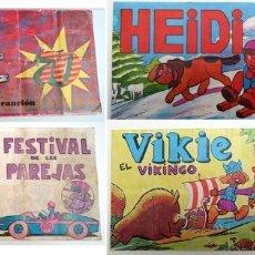 Coleccionismo Álbumes: 4 ALBUM 1975 HEIDI PIPAS GRAELL TOSTAVAL. VICKIE, POP 70 MUY COMPLETOS. REGALO FESTIVAL PAREJAS. Lote 41707833