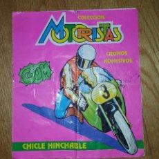 Coleccionismo Álbumes: ALBUM DE CROMOS MOTORISTAS DE CHICLES. Lote 121221263