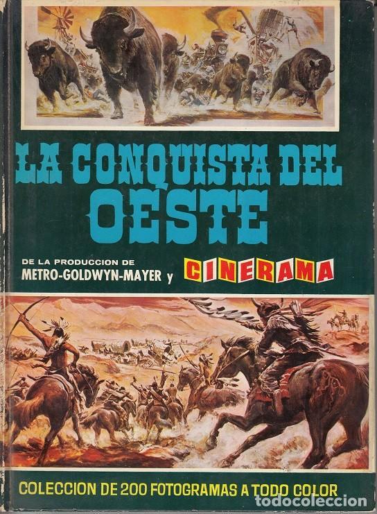 LA CONQUISTA DEL OESTE - ALBUM DE CROMOS + CROMOS REPETIDOS - EDITORIAL BRUGUERA (Coleccionismo - Cromos y Álbumes - Álbumes Incompletos)