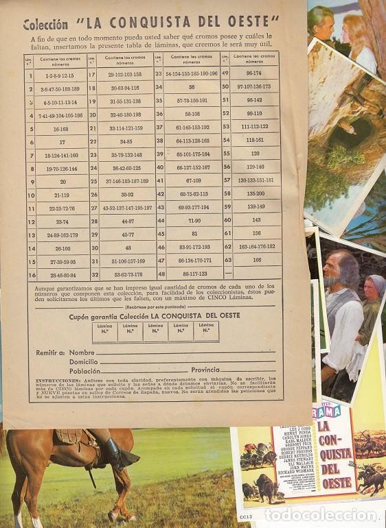 Coleccionismo Álbumes: LA CONQUISTA DEL OESTE - ALBUM DE CROMOS + CROMOS REPETIDOS - EDITORIAL BRUGUERA - Foto 2 - 121918071