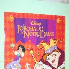 Coleccionismo Álbumes: EL JOROBADO NOTRE DAME *** ALBUM CROMOS MARCO (PANINI) *** INCOMPLETO. Lote 210559815
