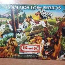 Coleccionismo Álbumes: TUS AMIGOS LOS PERROS, PANRICO, CROMOS AUTOADHESIVOS,1977. Lote 122716279
