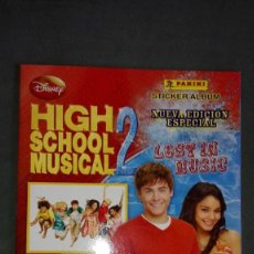 Coleccionismo Álbumes: ALBUM HIHG SCHOOL MUSICAL 2.: LOST IN MUSIC. EDITORIAL PANINI. Lote 123002099