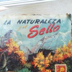 Coleccionismo Álbumes: ALBUM DE CROMOS LA NATURALEZA Y EL SELLO. Lote 124287560