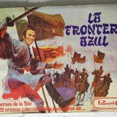 Coleccionismo Álbumes: ALBUM LA FRONTERA AZUL, PANRICO - CONTIENE 11 CROMOS. Lote 124343959