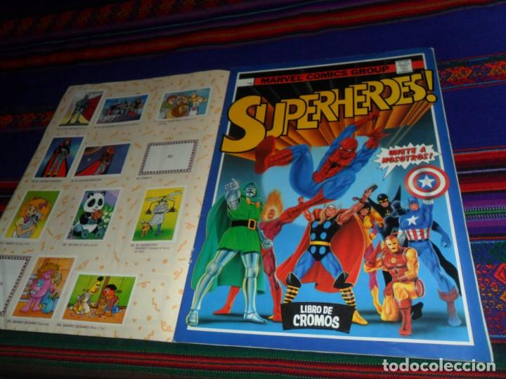 Coleccionismo Álbumes: SUPER FESTIVAL DEL DIBUJO ANIMADO Y SUPERHÉROES INCOMPLETO FALTAN 19 DE 174 CROMOS. ESTE 1988. - Foto 2 - 124413687