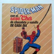 Coleccionismo Álbumes: ÁLBUM CON 8 CROMOS SPIDERMAN CON EL BATIDO CHE'S 1985 LECHE EL PRADO CROMOS MARVEL COMICS GROUP. Lote 124439343