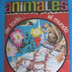 Coleccionismo Álbumes: ÁLBUM INCOMPLETO A FALTA DEL Nº 85. ANIMALES DE TODO...EL MUNDO. EDITORIAL FHER, 1966.. Lote 125392351