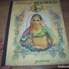 Coleccionismo Álbumes: RETINA DEL MUNDO . ÁLBUM SALSAFRAN Nº II. INCOMPLETO.VDA. DE A. GOMEZ TEJEDOR. 1943. VER FOTOS.. Lote 125867731