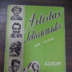 Coleccionismo Álbumes: ALBUM INCOMPLETO. ARTISTAS SELECCIONADOS. DE CINE. VER FOTOS. 24,5 X 17 CM. . Lote 125901279