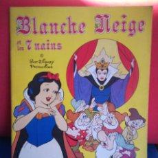Coleccionismo Álbumes: ÁLBUM DE CROMOS EN FRANCÉS BLANCHE NEIGE (BLANCANIEVES Y LOS 7 ENANITOS)PANINI 86 DE 360 CROMOS,1987. Lote 126187279