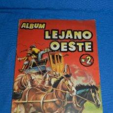 Coleccionismo Álbumes: ALBUM LEJANO OESTE NUM 2 , EDC GENERALES , FALTAN 14 CROMOS , SEÑALES DE USO. Lote 126567839