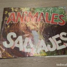 Coleccionismo Álbumes: ALBUM DE CROMOS ANIMALES SALVAJES. DIFUSORA DE CULTURA, S.A. 1982. INCOMPLETO. Lote 126695511