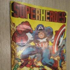 Coleccionismo Álbumes: ÁLBUM DE CROMOS SUPERHEROES. EDITORIAL FHER 1981. INCOMPLETO. . Lote 126695523