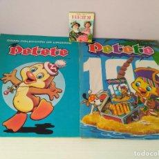 Coleccionismo Álbumes: LOTE ALBUM CROMOS VACIO PETETE,NUMERO 100 DE LA REVISTA Y PEQUEÑO LIBRO HEIDI. Lote 126790699