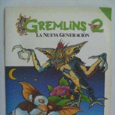 Coleccionismo Álbumes: GREMLINS 2 , LA NUEVA GENERACION . ANAYA 1990 . ALBUM DE CROMOS VACIO Y NUEVO SIN USAR. Lote 296812703