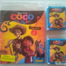 Coleccionismo Álbumes: COCO DISNEY PIXAR BLISTER CON ÁLBUM Y 50 SOBRES O 250 CROMOS PANINI . Lote 142100426