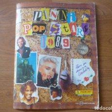 Coleccionismo Álbumes: ALBUM PANINI POP STARS 1989 CON 165 CROMOS - MUSICA NO FUTBOL 89 - LEER DESCRIPCION. Lote 128168683