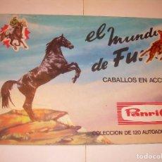 Coleccionismo Álbumes: ALBUM DE CROMOS....EL MUNDO DE FURIA.CABALLOS EN ACCION...PANRICO...INCOMPLETO.. Lote 128267659