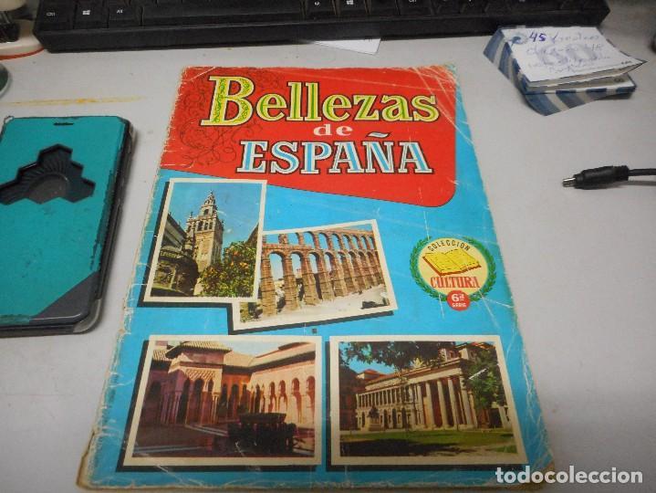 ALBUM BELLEZAS DE ESPAÑA CON 120 CROMOS (Coleccionismo - Cromos y Álbumes - Álbumes Incompletos)
