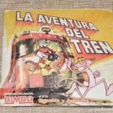 Coleccionismo Álbumes: ALBUM CROMOS BIMBO LA AVENTURA DEL TREN TIGRETON PANTERA ROSA 1975.FALTAN 6 CROMOS. ADHESIVOS VER. Lote 128380099