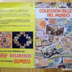 Coleccionismo Álbumes: ALBUM BILLETERO BIMBO BILLETES DEL MUNDO. ORIGINAL DE LOS 70. ESCASO. Lote 52968748