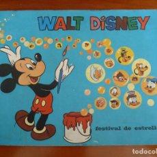 Coleccionismo Álbumes: WALT DISNEY FESTIVAL DE ESTRELLAS ALBUM DE CROMOS CHICLES BAZOOKA INCOMPLETO FALTAN 7 CROMOS. Lote 129708731