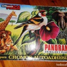 Coleccionismo Álbumes: PANORAMA ANIMALES Y PLANTAS - ALBUM MAGA - FALTA UN CROMO. Lote 129997311