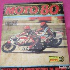 Coleccionismo Álbumes: ALBUM MOTO 80 ESTE INCOMPLETO FALTAN 16 CROMOS. Lote 130365746