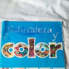 Coleccionismo Álbumes: NATURALEZA Y COLOR EDITORIAL CAREN ALBUM DE CROMOS. Lote 130992049