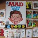 Coleccionismo Álbumes: MAD STICKER ALBUM VACIO - INCLUYE LOTE DE STICKERS. Lote 131368806