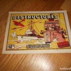 Coleccionismo Álbumes: ALBUM DESTRUCTORES BARCOS ALBUM MARINA CISNE 1942 BUEN ESTADO. Lote 131735986