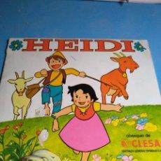 Coleccionismo Álbumes: ÁLBUM HEIDI DE CLESA ,INCOMPLETO AÑO 1975. Lote 132494730