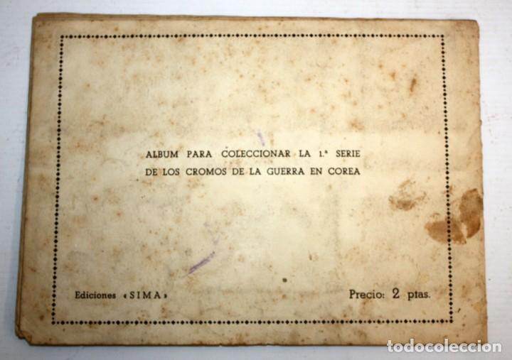 Coleccionismo Álbumes: ALBUM LA GUERRA EN COREA 1 SERIE EDICIONES SIMA - Foto 2 - 132612750